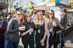 Women drinking beer at Bendigo On The Hop