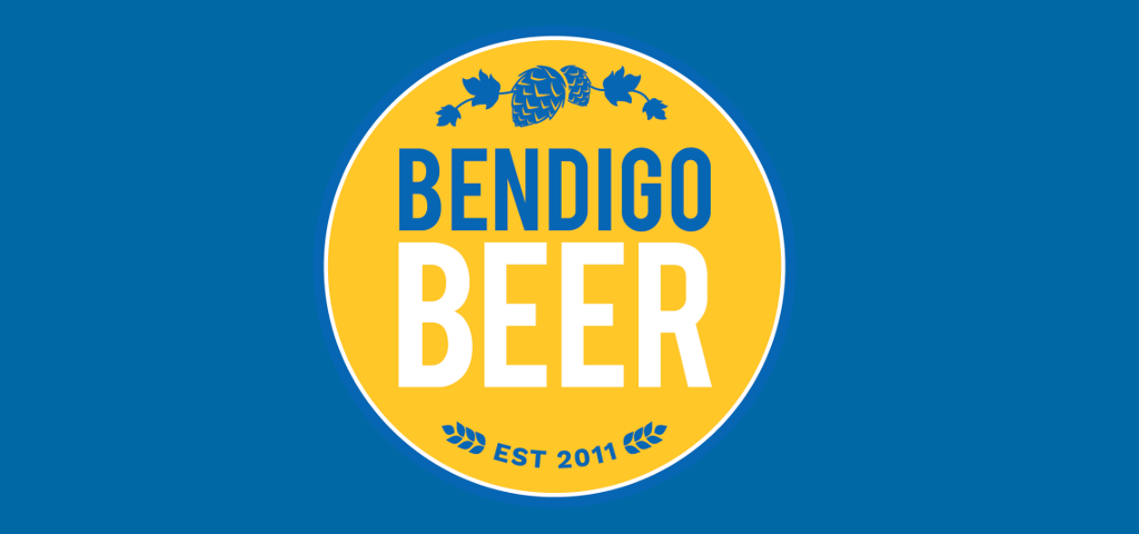 Bendigo Beer logo on blue