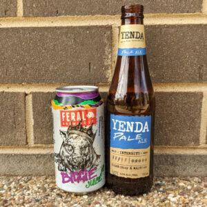 Feral Biggie Juice and Yenda Pale Ale.