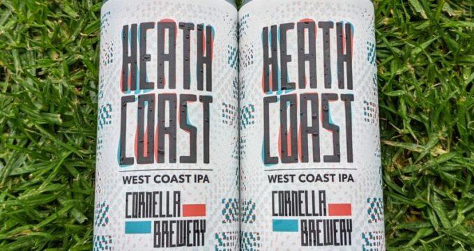 Two cans of Cornella Brewery Heath Coast IPA